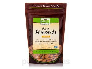 NOW Real Food - Raw Almonds, Unsalted - 16 oz (454 Grams) by NOW
