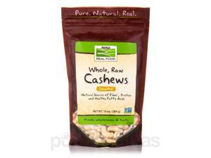 NOW Real Food - Cashews (Unsalted, Whole, Raw) - 10 oz (284 Grams) by NOW