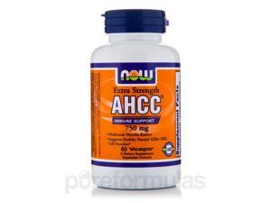 AHCC Extra Strength 750 mg - 60 Veg Capsules by NOW