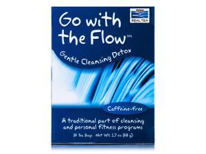 NOW Real Tea - Go With The Flow Tea Bags, Cleansing Detox - Box of 24 Packets b