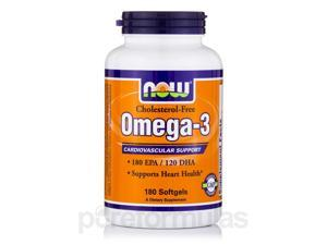 Omega-3 (Cholesterol Free) - 180 Softgels by NOW