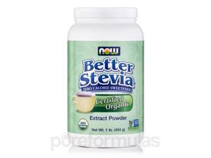 Better Stevia Extract Powder, Organic - 1 lb (454 Grams) by NOW