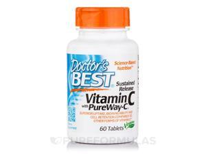 Vitamin C with PureWay-C (Sustained Release) - 60 Tablets by Doctor's Best