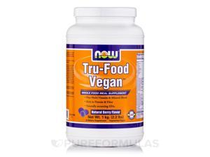 Tru-Food Vegan, Natural Berry Flavor - 2.2 lbs (1 kg) by NOW
