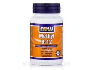 Methyl B-12 5000 mcg - 60 Lozenges by NOW