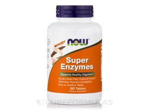 Super Enzymes - 180 Tablets by NOW