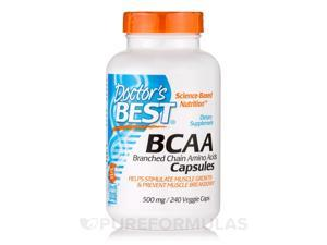 BCAA 500 mg - 240 Veggie Capsules by Doctor's Best