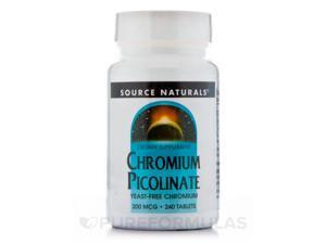 Chromium Picolinate 200 mcg - 240 Tablets by Source Naturals