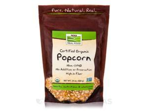 NOW Real Food - Popcorn (Certified Organic) - 24 oz (680 Grams) by NOW