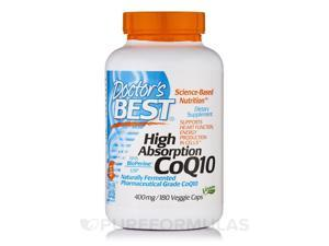 High Absorption CoQ10 with BioPerine? 400 mg - 180 Veggie Capsules by Doctor's B