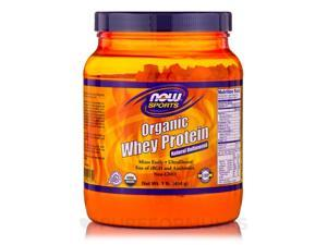 NOW Sports - Whey Protein (Natural - Unflavored) - 1 lb (454 Grams) by NOW
