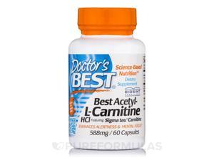 Doctor's Best Best Acetyl-L-Carnitine HCl Sigma Tau Carnitine (588 mg) 60 Capsules