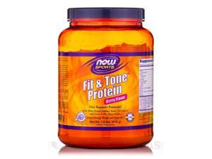 NOW Sports - Fit & Tone Protein Berry Flavor - 1.8 lbs (816 Grams) by NOW