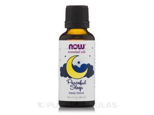 NOW Essential Oils - Peaceful Sleep Oil Blend - 1 fl. oz (30 ml) by NOW