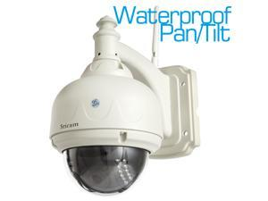 Sricam CMOS 4mm LEN Wifi Plug&Play P2P Pan/Tilt Waterproof Outdoor Dome IP Camera Wireless IR Cut Night Vision CCTV Camera Motion Detection Security Surveillance Network Camera Free iPhone&Android App