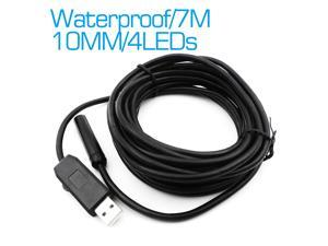 LENs 10MM Inspection Endoscope Borescope Camera Waterproof with 4 LEDs Snake Scope Camera Tube Visual Camera Endoscopie 7M Cable