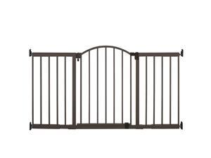 Summer Infant Metal Expansion Gate 6 Foot Wide Extra Tall Walk Thru - Bronze