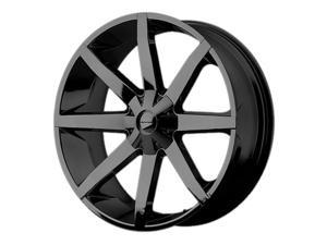 KMC KM651 Slide 20x8.5 6x135/6x139.7 +10mm Gloss Black Wheel Rim