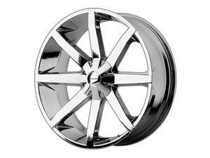 KMC KM651 Slide 24x9.5 6x135/6x139.7 +25mm Chrome Wheel Rim