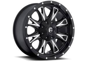 Fuel Offroad D513 Throttle 20x10 8x180 -12mm Black/Milled Wheel Rim