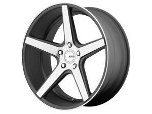 KMC KM685 District 20x8.5 5x114.3 28mm Satin Black Wheel Rim