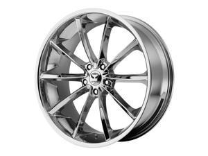 Lorenzo WL32 22x10.5 5x115 +28mm Chrome Wheel Rim
