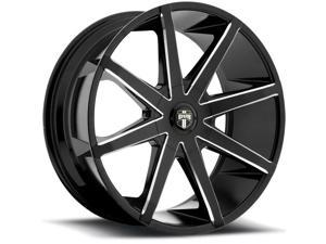 Dub S109 Push 20x8.5 5x112/5x114.3 +34mm Gloss Black/Milled Wheel Rim