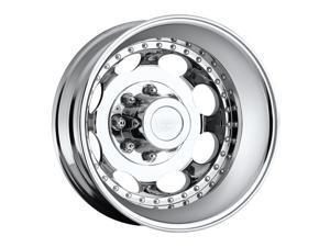 Vision 181H Hauler Dually 19.5x6.75 8x200 -143mm Chrome Wheel Rim