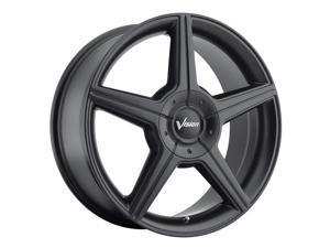 Vision 168 Autobahn 16x7 4x100/4x108 +40mm Matte Black Wheel Rim