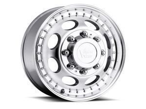 "Vision 181 Hauler Dually Front 17x6.5 8x165.1/8x6.5"" +121mm Machined Wheel Rim"