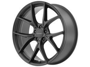 KMC KM694 Wishbone 20x9.5 5x114.3 +45mm Satin Black Wheel Rim