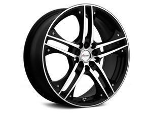 Forza FO-312 17x7 5x100/5x114.3 +38mm Black/Machined Wheel Rim