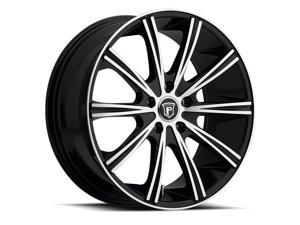 Pinnacle P80 Linear 22x9.5 5x120 +15mm Black/Machined Wheel Rim