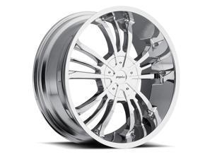 Pinnacle P72 Gunner 20x8.5 6x139.7 +15mm Chrome Wheel Rim