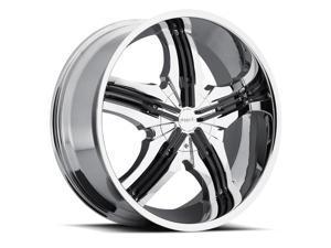 Pinnacle P40 Venice 20x7.5 5x114.3/5x120 +40mm Chrome Wheel Rim
