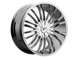 Pinnacle P62 Via 20x8.5 6x135/6x139.7 +30mm Chrome Wheel Rim