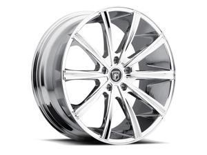 Pinnacle P80 Linear 24x9 5x115 +20mm Chrome Wheel Rim
