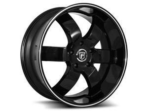 Pinnacle P86 Forte 24x9.5 5x115 +20mm Gloss Black Wheel Rim