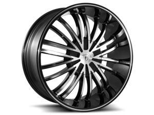 Pinnacle P62 Via 22x9.5 5x115/5x120 +15mm Black/Machined Wheel Rim