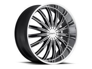 Pinnacle P50 Swagg 24x9.5 6x139.7 +20mm Black/Machined Wheel Rim