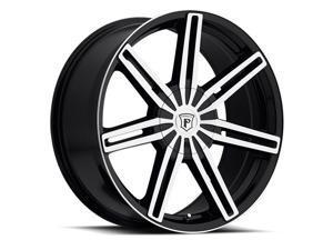 Pinnacle P76 Ethos 22x9 5x115/5x120 +20mm Black/Machined Wheel Rim
