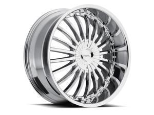 Pinnacle P38 Silo 20x8.5 6x135/6x139.7 +30mm Chrome Wheel Rim
