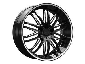 Forte F75 Euro 22x9 5x114.3/5x120 +35mm Black/Milled Wheel Rim