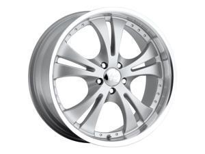 Vision 539 Shockwave 15x6.5 5x100 +38mm Silver Wheel Rim