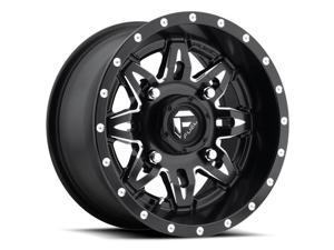 Fuel D567 Lethal ATV/UTV 14x7 4x156 +13mm Black/Milled Wheel Rim
