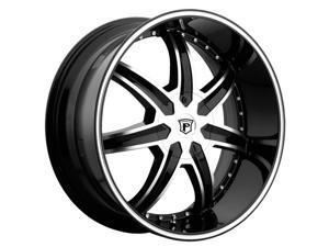 Pinnacle P64 Ziete 22x9.5 6x139.7 +15mm Black/Machined Wheel Rim