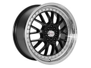 Forza FO318 17x8 5x100/5x114.3 +35mm Black/Machined Wheel Rim