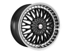 Forza FO317 17x8 5x100/5x114.3 +35mm Black/Machined Wheel Rim