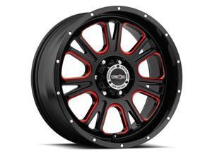 Vision 399 Fury 20x10 6x135 -25mm Black/Milled/Red Wheel Rim