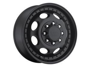 "Vision 181 Hauler Dually Front 19.5x6.75 8x165.1/8x6.5"" +102mm Black Wheel Rim"